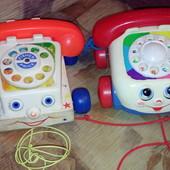 Fischer price каталка телефон
