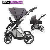 Доставка! универсальная коляска 2 в 1 BabyStyle Oyster max Slate grey / mirror