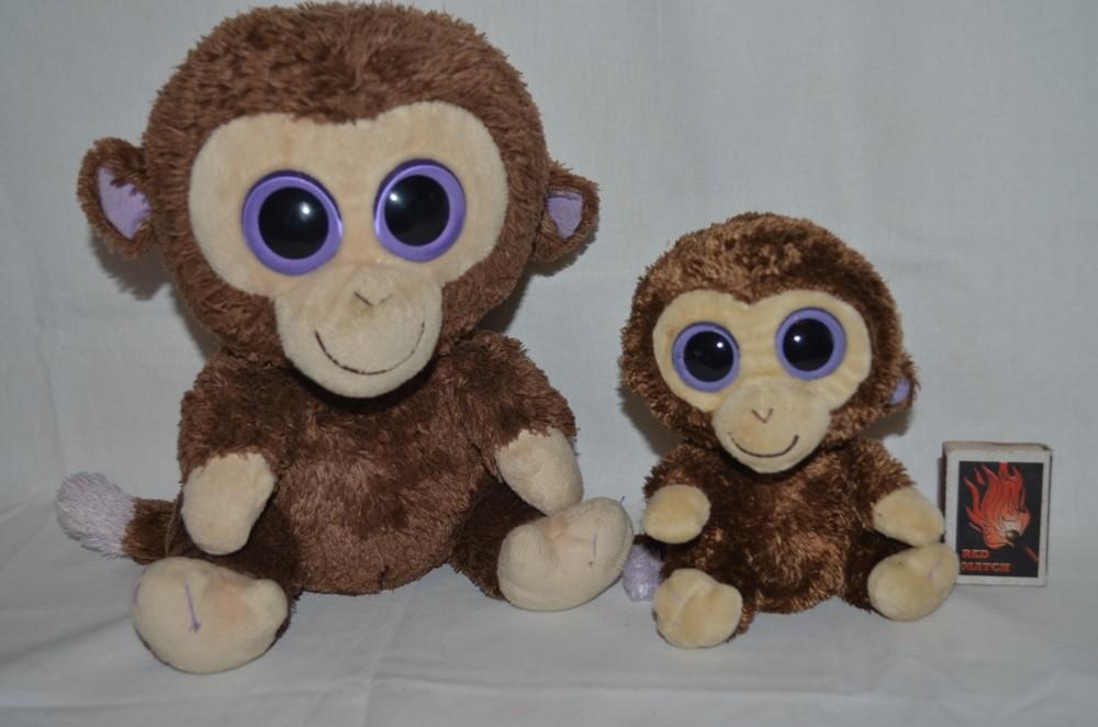 Ty фирменный милейшая мартышка обезьянка глазастик маленький и большой семья фото №1