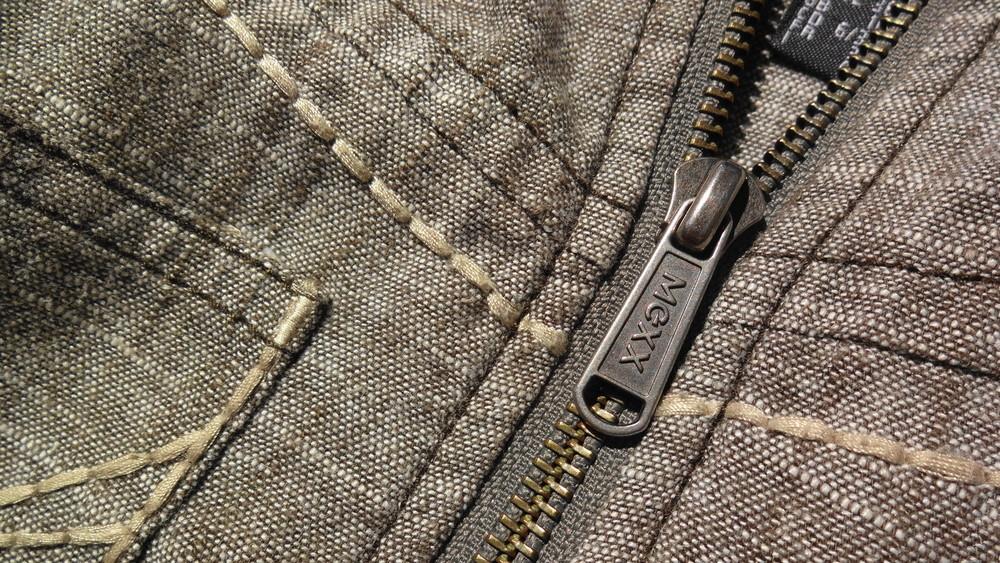 Mexx jeans. льняная джинсовая куртка пиджак. фото №1