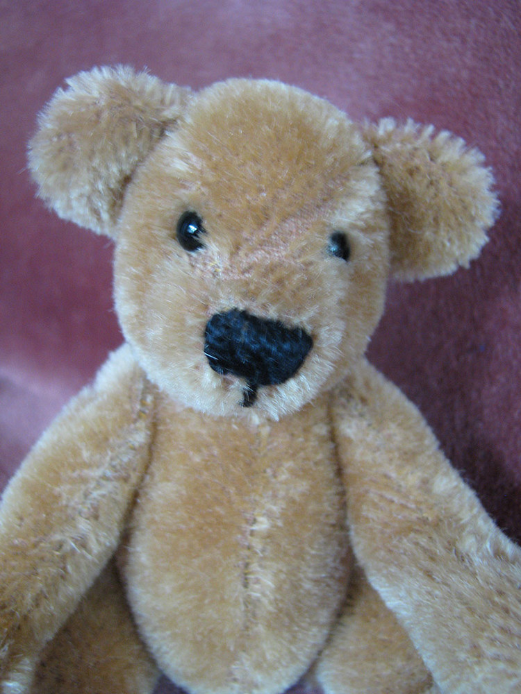 Мишка медведь мохер германия гдр 17 см состояние ! фото №1