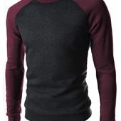 Свитшот с рукавами динс,бордо,чёрный цвета.S M L XL (2с,з