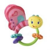 Игрушка-погремушка розовая бабочка от kids ii фото №1