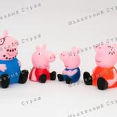 Резиновые пищалки Семья свинка Пеппа, пищалка, игрушки для купания, ванной