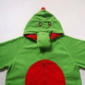Продаю! Флисовый взрослый человечек-пижама-костюм Дракон размер L, б/у.