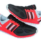 41 р Мужские удобные кроссовки красные (Адіо-Ч)