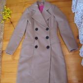 пальто кашемировое бежевое 8 10размер