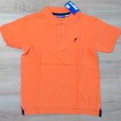 Поло оранжевое для 8-10 и 10-12 лет ТМ Pepperts