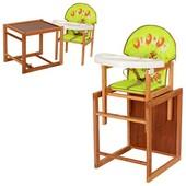 Виваст Собачка MV 100 стульчик трансформер для кормления Vivast пластиковый столик и стульчик