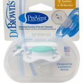 Ортодонтическая пустышка Dr. Brown's PreVent®, 6-18 м, зелёная