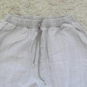 Натуральный льон.Фирменные легкие брюки.