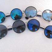 Модные круглые солнцезащитные очки, разные цвета