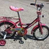 """Велосипед """"принцесса"""" 2 колесный со съемными колесами"""