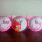 Детские часы будильник Hello Kitty