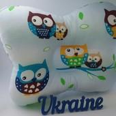 Подушки ортопедические для новорожденных мальчиков и девочек. Разные расцветки.