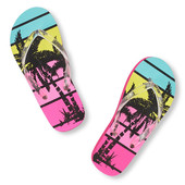 Girls Palm Tree Flip Flop р.1-2