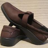 Комфортные легкие кожаные туфли темно-бордового цвета Hotter. Англия.