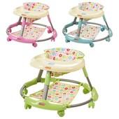 Ходунки складные, колеса 6шт (диаметр 5см), подстаканник на столешнице, 3 цвета(голубой, розовый, зе