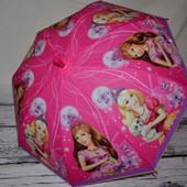 Зонтик зонт детский с яркими героями матовый яркий и весёлый Barbie барби