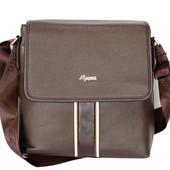 Мужская качественная сумка коричневая (Е-081)