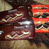 вкуснейший шоколад клубника и тирамису  282 г. ЛОТ 2шт