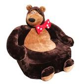 Детское мягкое кресло Маша и Медведь