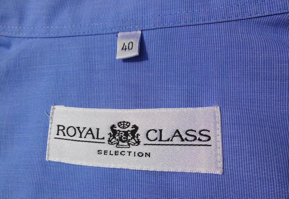 Royal class. Тонкая голубая рубашка с длинным рукавом. Есть нюанс. фото №1