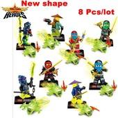 Ninja Minifigures Нинзяго минифигурки совместимые с оригинальным конструктором Lego.