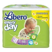 Подгузники детские Libero Everyday Natural 4 (7-18 кг) Maxi 42 шт.