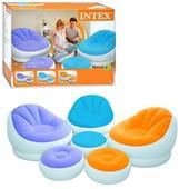 Велюр кресло Intex 68572