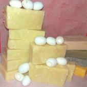 Мыло с нуля шампуневое *Шелковое*,для ослабленых,тонких волос/с шёлком,кетоном малины,серой)