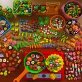 Мини-еда,овощи,фрукты для игр и кукол.  Набор 20 шт. Детки в восторге!