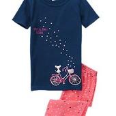 Пижама для девочки с велосипедом- 7лет, Crazy 8