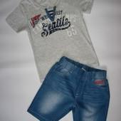 Летний комплект (футболка и шорты для мальчика) р.98-152 (арт.5221)