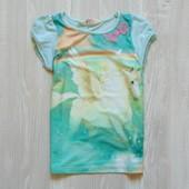 Яркая стильная футболочка для девочки.  H&M. Размер 4-6 лет. Состояние: идеальное