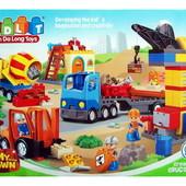 Конструктор 5113 детский Стройка, JDlT, крупные детали, аналог Лего