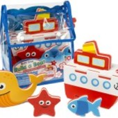Распродажа - 3D модель для ванной Пароход от  Meadow Kids