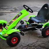 Детский спортивный картинг,на педалях,и резиновыми колесами G18