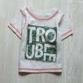 Стильная футболка для новорожденного. George. Размер 0-3 месяца. Состояние: новой вещи, не ношенная.