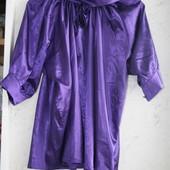 Шикарная фиолетовая блуза 54-56р. в идеальном состоянии