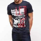 мужская футболка De Facto темно-серого цвета