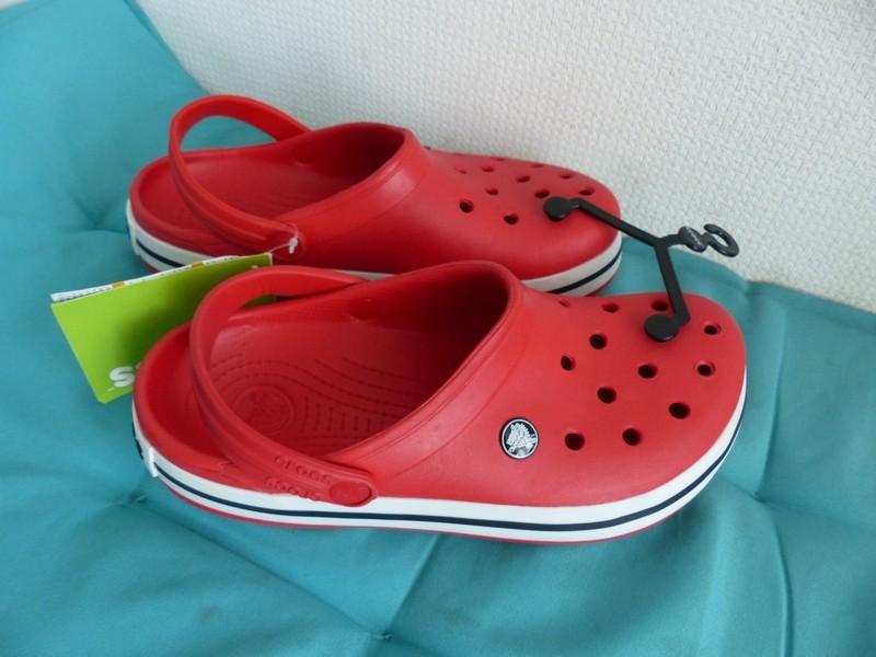 Красные сабо crocs  модель  crocsband фото №1