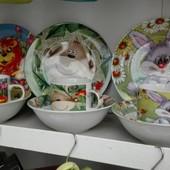 Наборы детской посуды 3 предмета! Разные!!!