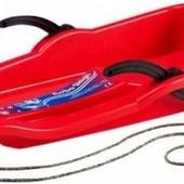 Пластиковые санки Tilly с ручками 002, три цвета, 65*35 см