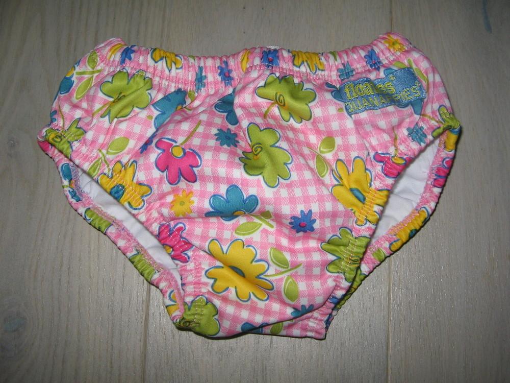 Плавки-подгузник памперс трусики для бассейна  floaties на 6 - 12 місяців (7 - 11 кг). стан нового фото №1