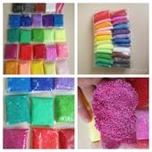 24 цвета шариковый пластилин,  зернистый пенопластилин