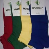 Носки мужские Montebello бамбук с сеткой, 41-44 р., короткие, ароматизир.,  яркое ассорти