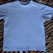 Белая футболка для мальчика и для девочки на 4 - 6 лет
