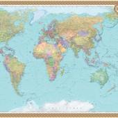 СП Политические карты мира Ламинированные
