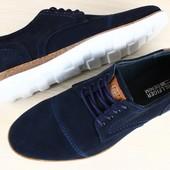 Туфли - комфорт ,натуральная замша
